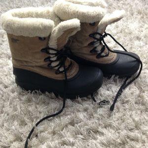 """SOREL """"Snowbird"""" Leather Faux Fur Snow Boots Sz 6"""